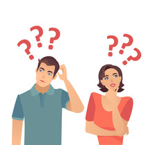 Vector Of A Confused Couple Wo...