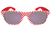 Checkered Black Sunglasses. Ve...