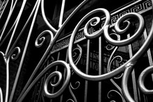 Detail Shot Of Designed Gate