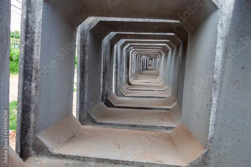 concrete pipes on a large storage area Slika na platnu