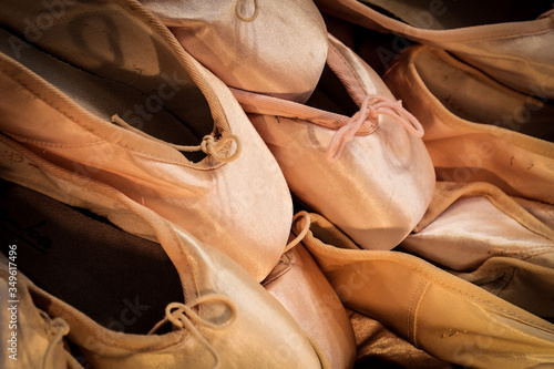 Backgrounds Of Ballerina Shoes Fototapet