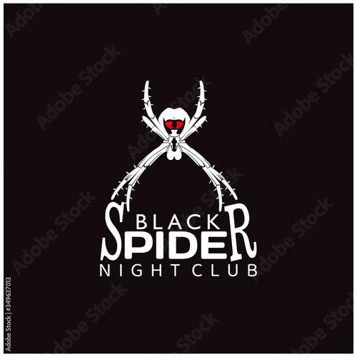 Spider Man Insect Arthropod symbol logo design silhouette Canvas Print