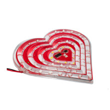 Red Heart Shape Led Isolated On White