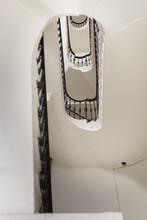 Stairwell From Below: White Ov...