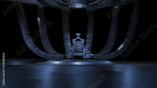 Foto Sci fi Throne room 3d rendering