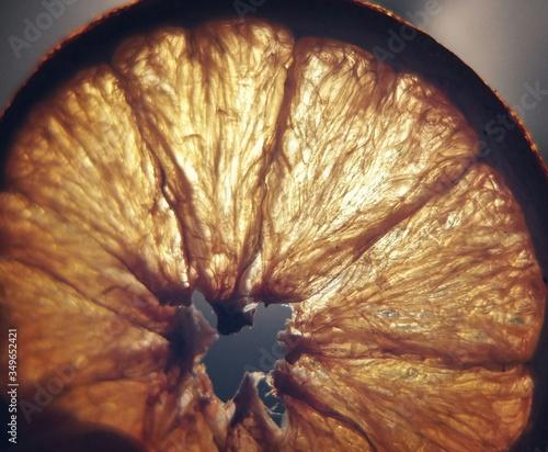 Canvastavla Close-up Of Lemon Slice
