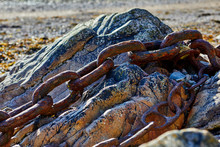 Abstract Image Of Old Rusty Ch...