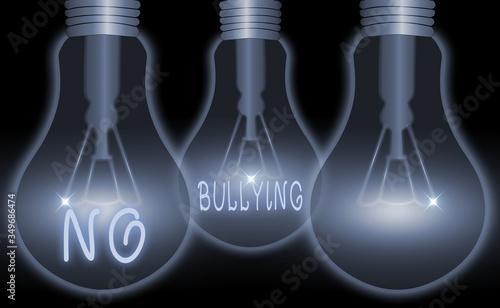 Valokuva Conceptual hand writing showing No Bullying