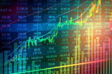 Close-up Of Stock Market Data On Screen