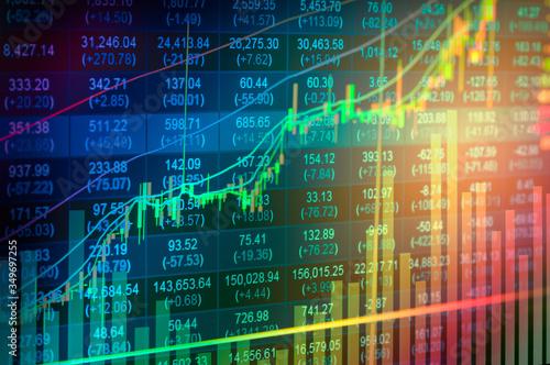 Cuadros en Lienzo Close-up Of Stock Market Data On Screen