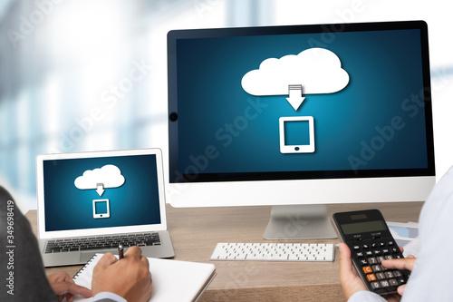 LIVE STREAMING Backup Download Computing Digital Data transferring , STREAMING Download Backup Canvas Print