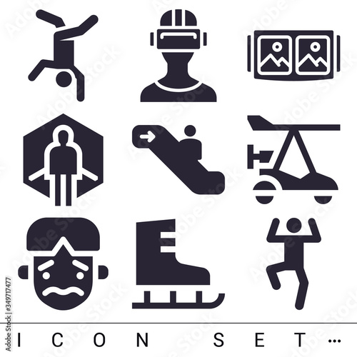 Photo 9 pack of agitated filled web icons set