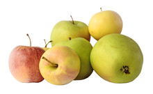 Set Of Color Apples Isolated O...