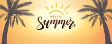 Hello Summer Background. Vecto...