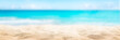 canvas print picture Sunny tropical beach, summer holidays vacation, Caribbean beach with turquoise water background