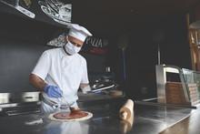 Chef  With Protective Coronavi...