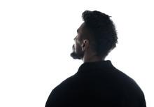 Silhouette Of Male Person , Ba...
