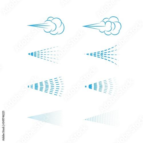 Air Spray vector, aerosol, spray cloud, fluid spray, spray icon set Canvas Print
