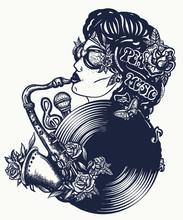 Music Girl, Portrait. African ...