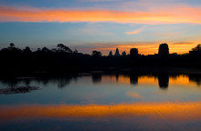 The Silhouette Of The Angkor W...
