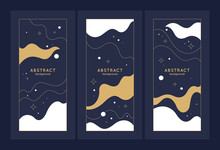 A Set Of Modern Backgrounds Wi...