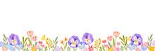花 水彩 背景