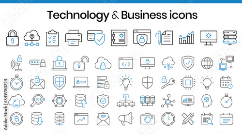 Photo Technology & business icons