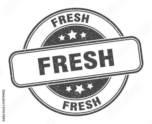 fresh stamp. fresh round grunge sign. label Wallpaper Mural