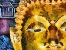 Ancient Buddha Statue Illustra...