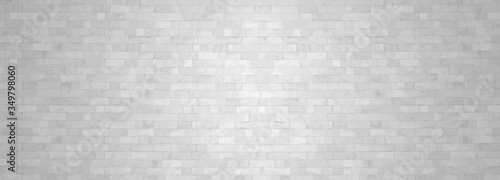 Papel de parede White brick wall backgrounds studio room interior texture for display products