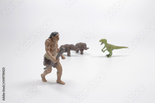 Photo a prehistoric ancestors of man homo erectus