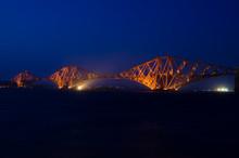 Forth Rail Bridge At Night 1