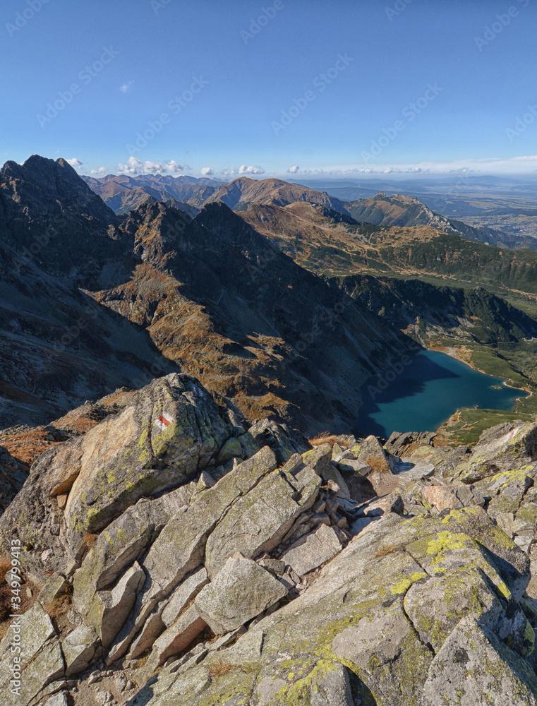 High tops of Polish Tatra Mountains National Park in Zakopane Poland