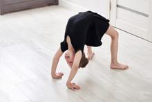 Little Girl Doing Backbend Gym...