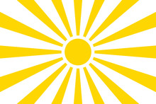 Sun Rays Summer Background Design. Vector Isolated Background Illustration. Abstract Yellow Background. Abstract Spotlight. Summer Background Sun Rays.