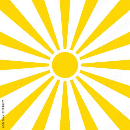 Obraz Sun rays summer background design. Vector isolated background illustration. Abstract yellow background. Abstract spotlight. Summer background sun rays. - fototapety do salonu
