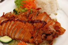 High Angle View Of Peking Duck...
