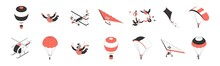 Air Tourism Isometric Icons Set