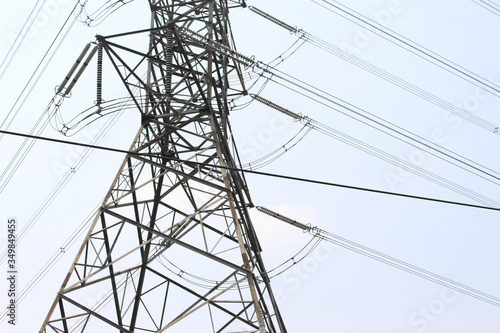 Fotografie, Obraz Low Angle View Of Electricity Pylon Against Clear Sky