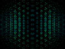 Minimalistic 3d Abstract Background Snake Skin Dark Green Animal Faces, Masks, Kaleidoscope, Psychology Test. For Cards, Decor And Decoration