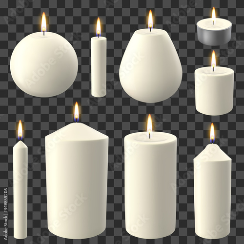 Realistic candles Canvas Print