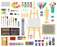 Paint Art Tools. Artistic Supp...
