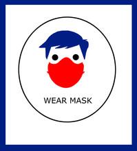 Ilustración Sobre Llevar Máscara O Llevar Máscara Y Guantes