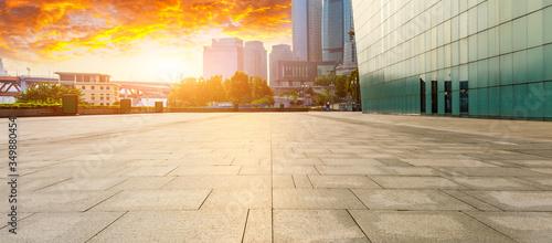 Fototapeta Chongqing city skyline and buildings at sunset,China. obraz