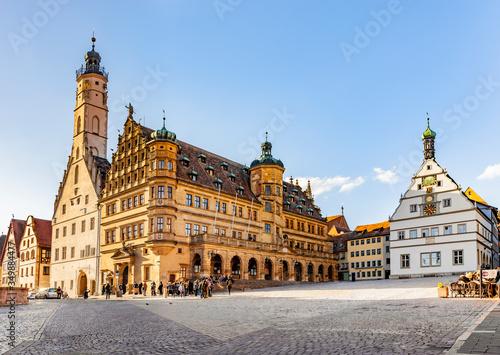 Obraz Rathaus Rothenburg ob der Tauber, Deutschland - fototapety do salonu