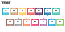 Timeline Infographic Chart Wit...