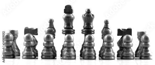 Fotografia, Obraz Chess Pieces Against White Background