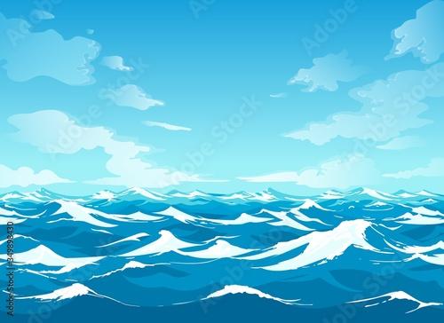 Fotografía Ocean surface waterscape