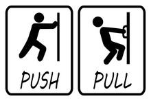 Push Pull Door Sign