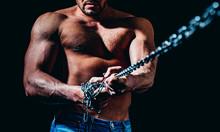 Strong Bodybuilder With Broken...